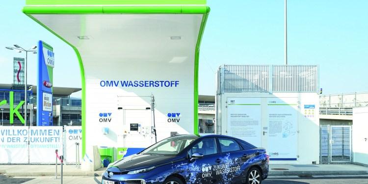 In Graz kann bereits Wasserstoff gezapft werden. Foto: OMV