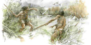 Der urzeitliche Homo heidelbergensis hat den Wurfstock bei der Jagd genutzt. Bild: Uni Tübingen