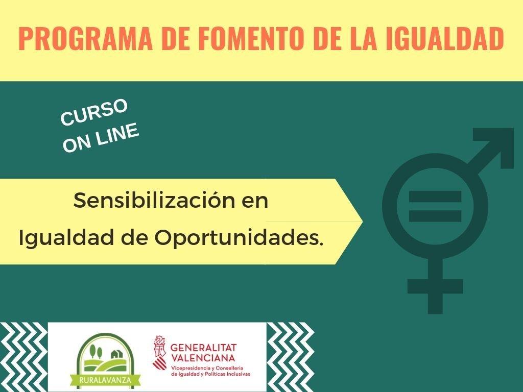 MATRÍCULA CERRADA – Curso online: Sensibilización en igualdad de oportunidades