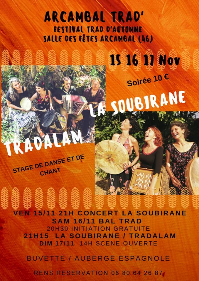 Festival Trad d'Automne à Arcambal, c'est parti !! 🗓 🗺