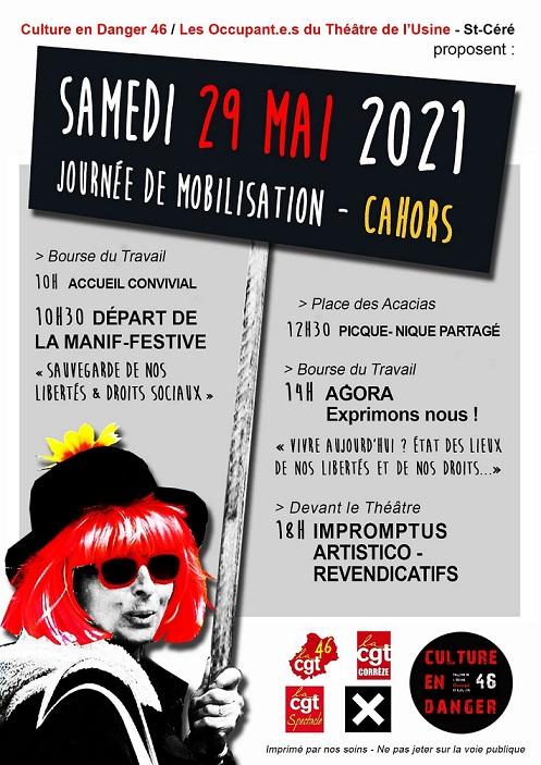 Manifestive à Cahors le 29 mai
