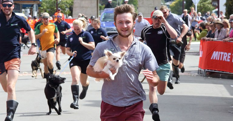 Man and Mutt Race