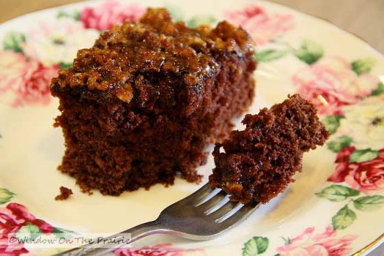 German Chocolate Oat Cake