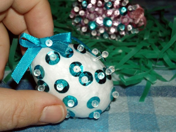 Easy Sequin Easter Egg Craft for Kids