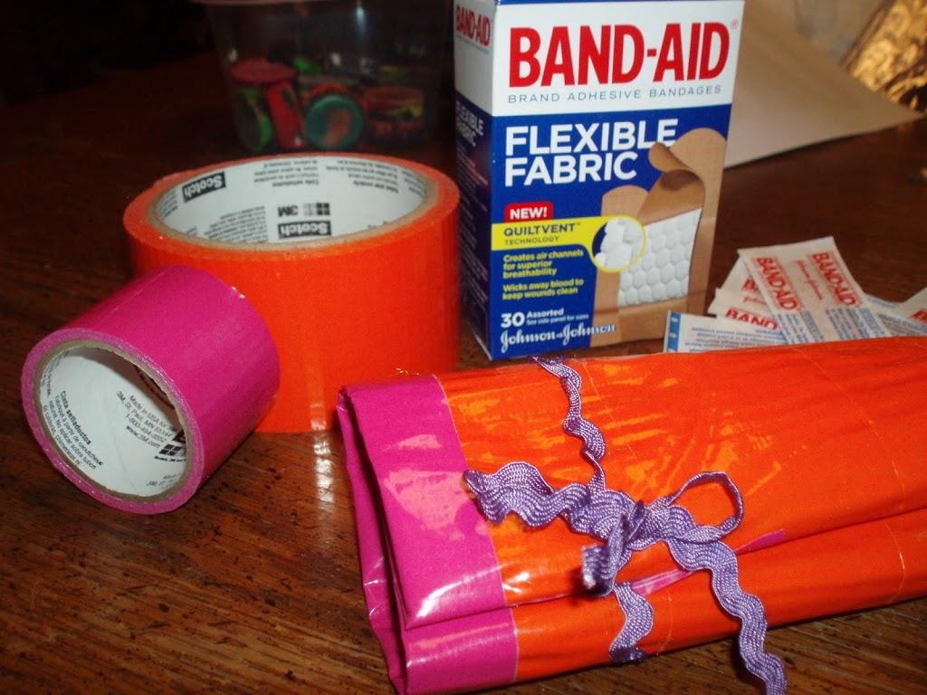 Duct Tape Mini First Aid Kit Roll Craft Tutorial Diy