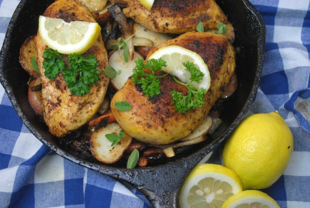 Farm Fresh Garlic Lemon Chicken Skillet
