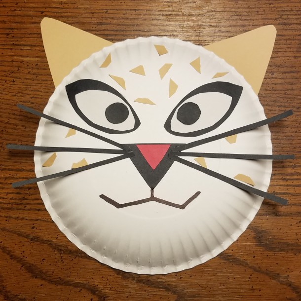 BORN IN CHINA Paper Plate Craft - Snow Leopard