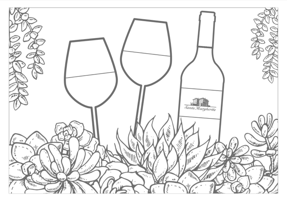 wine coloring book pages - photo#21