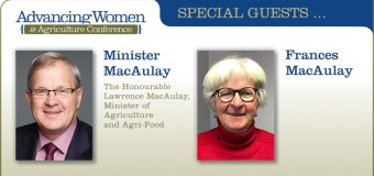 Lawrence and Frances MacAulay to speak at Advancing Women in Agriculture Conference in Calgary