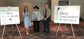 Youth from Burdett and Byemoor take top spots in 2019 Alberta Young Speakers for Agriculture competition