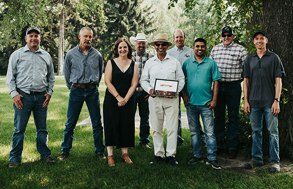 Dr. Surya Acharya receives 2021 Canadian Beef Industry Award for Outstanding Research and Innovation from Beef Cattle Research Council