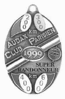 Super Randonneur Medal