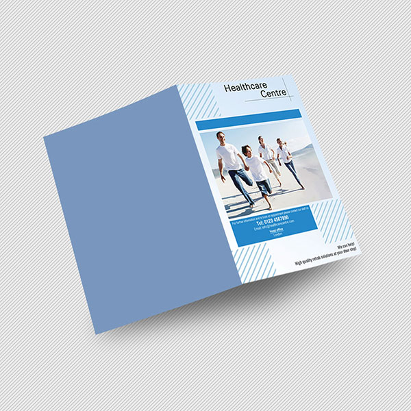 a4 half folded leaflet printing
