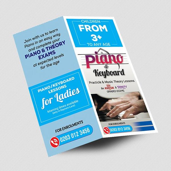 DL half folded leaflet printing