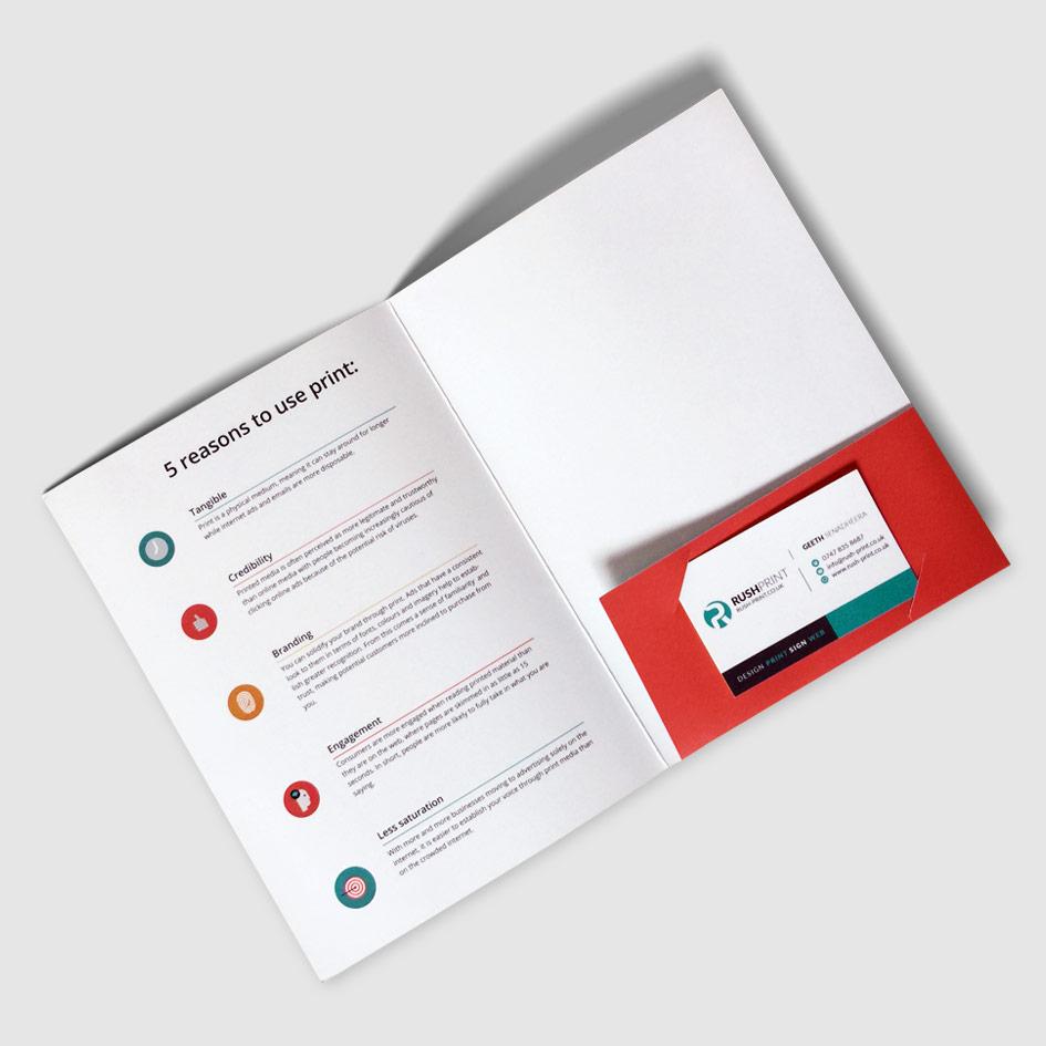 glued presentation folder printing