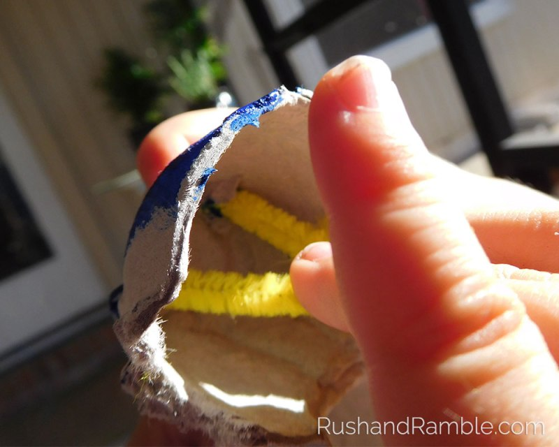 Easter Crafts - Egg Carton Caterpillars | Rush & Ramble
