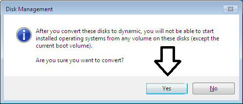 Convert basic disk into Dynamic disk