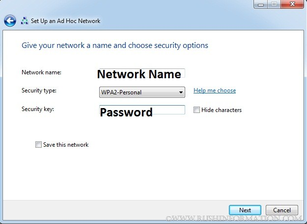 Setting Up Adhoc Network Windows 7