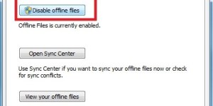 Disable Offline Files in Windows 7 Using Control Panel : FIXED