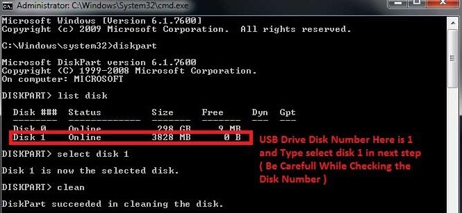 Delete an EFI partition in Windows 7