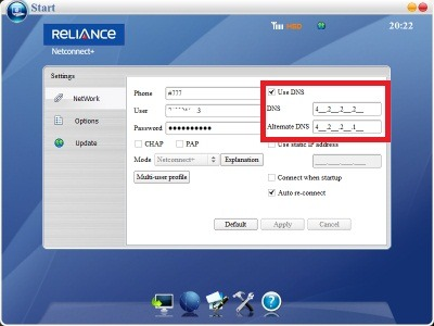 How to Increase Reliance Netconnect Plus Speed