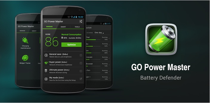Best Free Android Apps to Save Battery Life - Go Power App