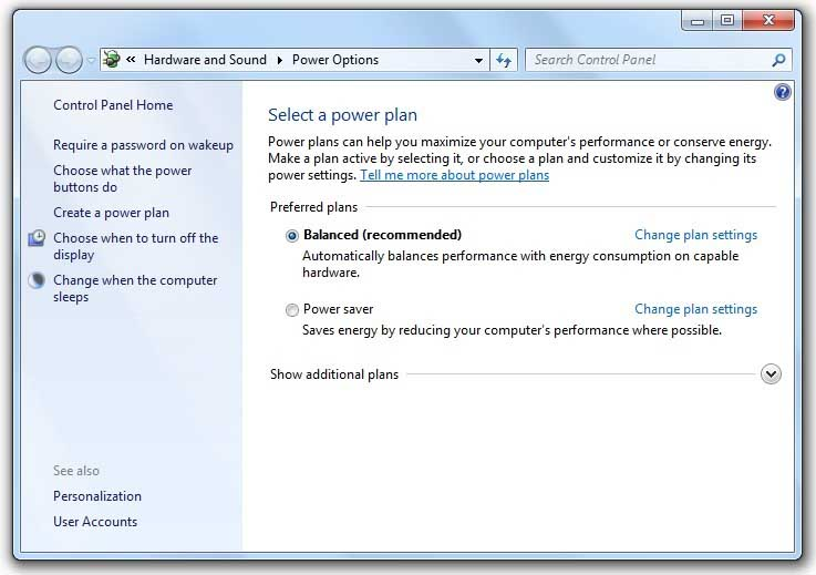 How to Increase Laptop's Performance - Power Settings
