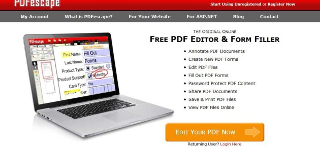 How to Edit PDF Files For Free using PDFescape