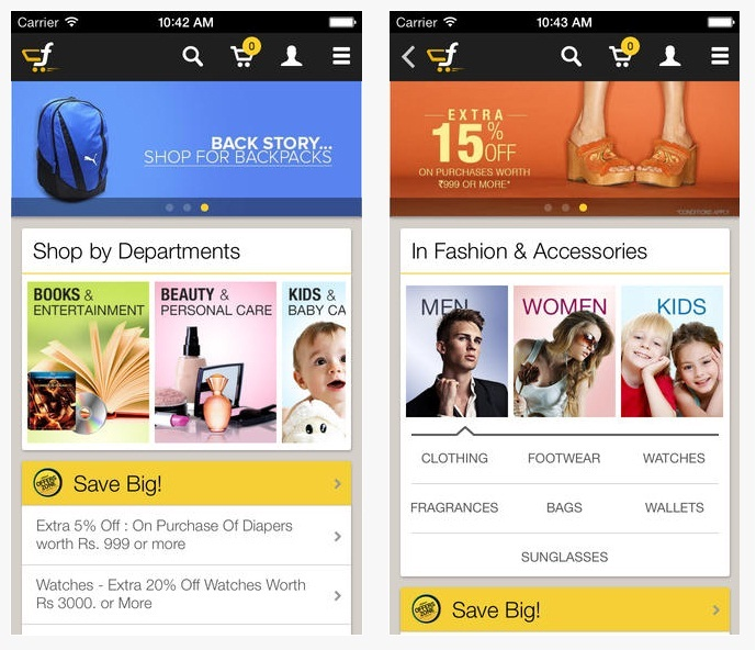 Flipkart App for Apple iPhone iOS
