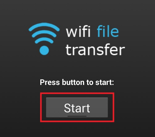 WiFi File transfer - Step 1