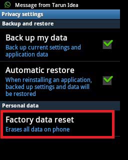 Can't Establish a Reliable Data Connection to the Server error - Factory data reset