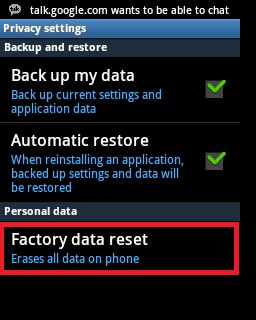 Google Play Store No Connection Retry Error - Factory data reset
