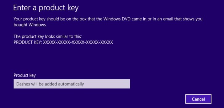 How to Fix Windows 8 Activation Error 0xC004F074 - Enter Product key slui 3