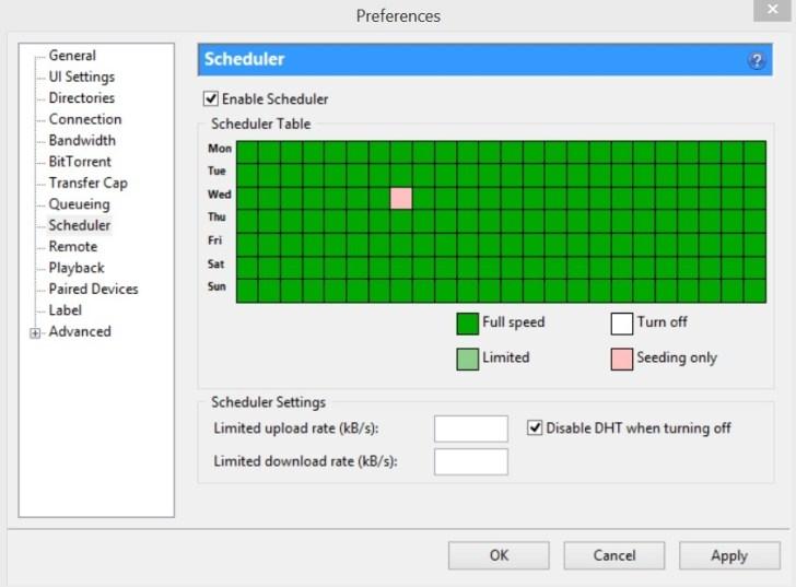 Best uTorrent Tips and Tricks : Schedule Torrent Downloading