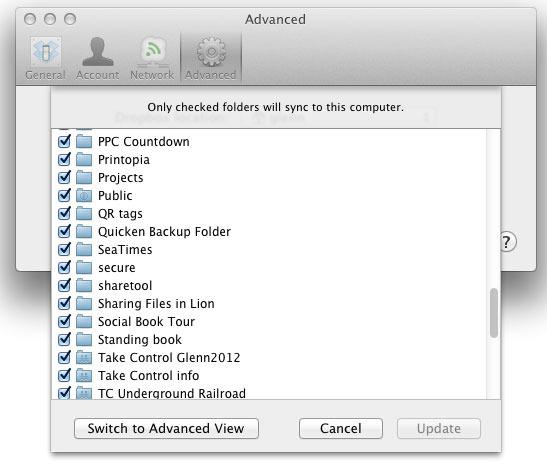 Dropbox Tricks 2014 - Selective Sync