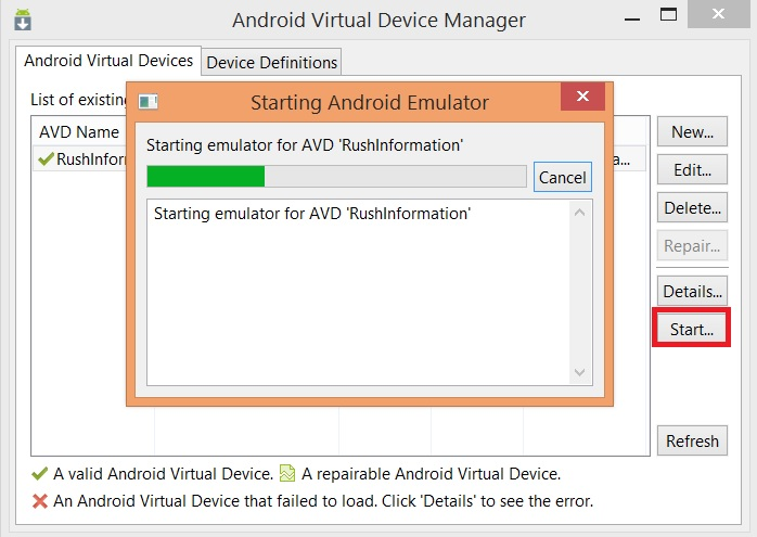 How to Install Whatsapp on PC Using Android SDK Emulator - Step 3