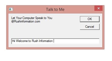 Let your Computer Speak