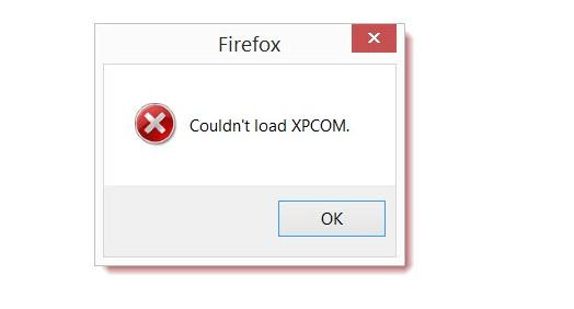 Firefox Couldn't load XPCOM FIX