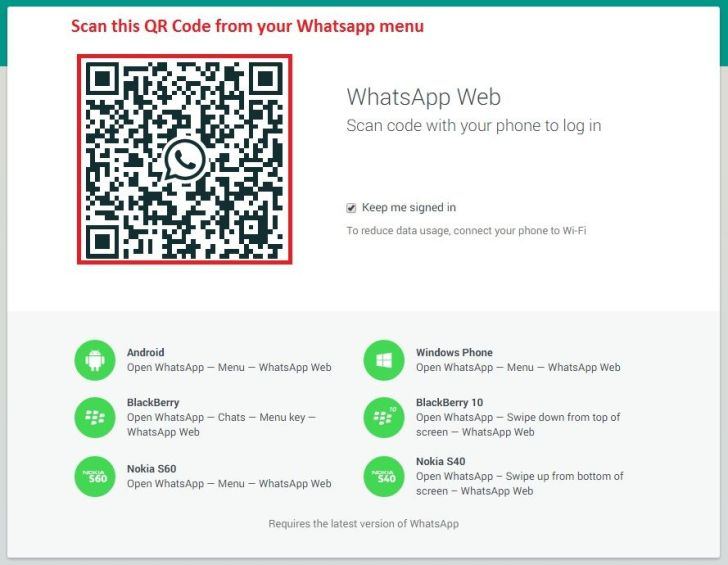 Whatsapp Web Version for Windows PC
