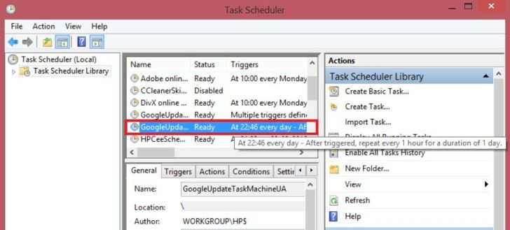 How to Remove Googleupdate.exe - Task scheduler