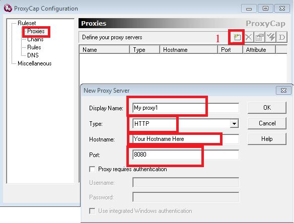 Setup a http proxy server idrop in