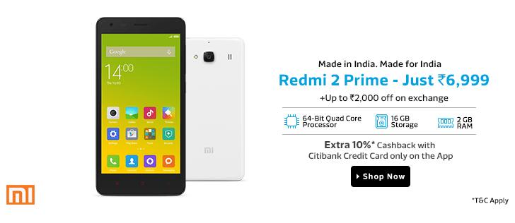 Xiaomi Redmi 2 Prime Review, Price, Specification in India