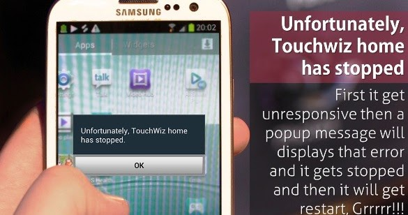 Unfortunately Touchwiz Home has Stopped Fix