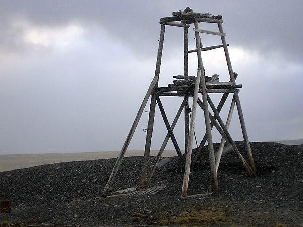 Остатки лагеря заключенных на полуострове Челюскин