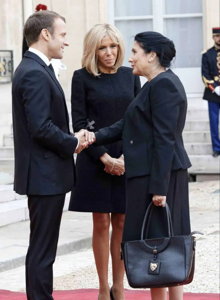 President of Georgia wearing RusiDesigns