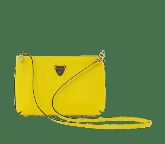 Yellow crossbody leather bag