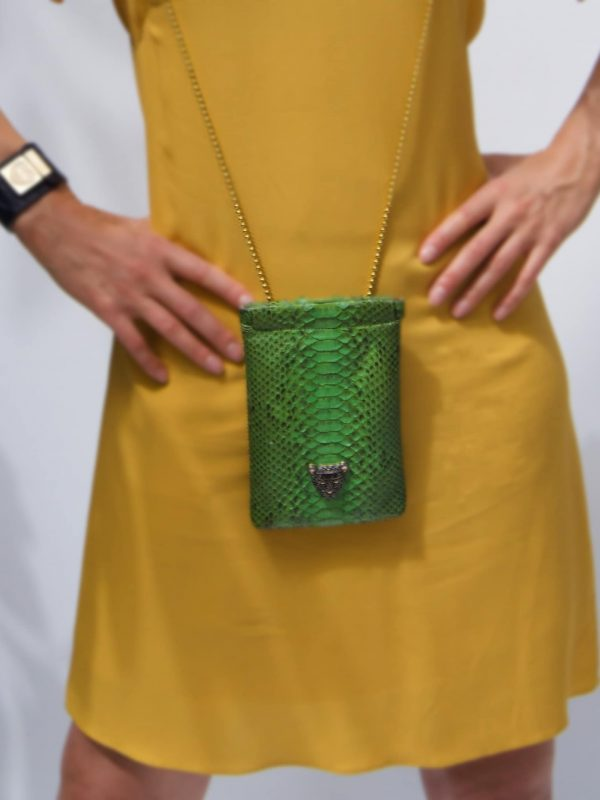 Green Capsule Iphone bag