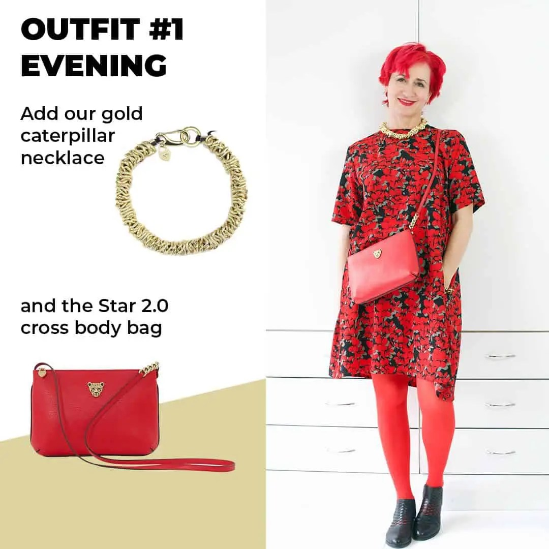 red theme look 1 evening