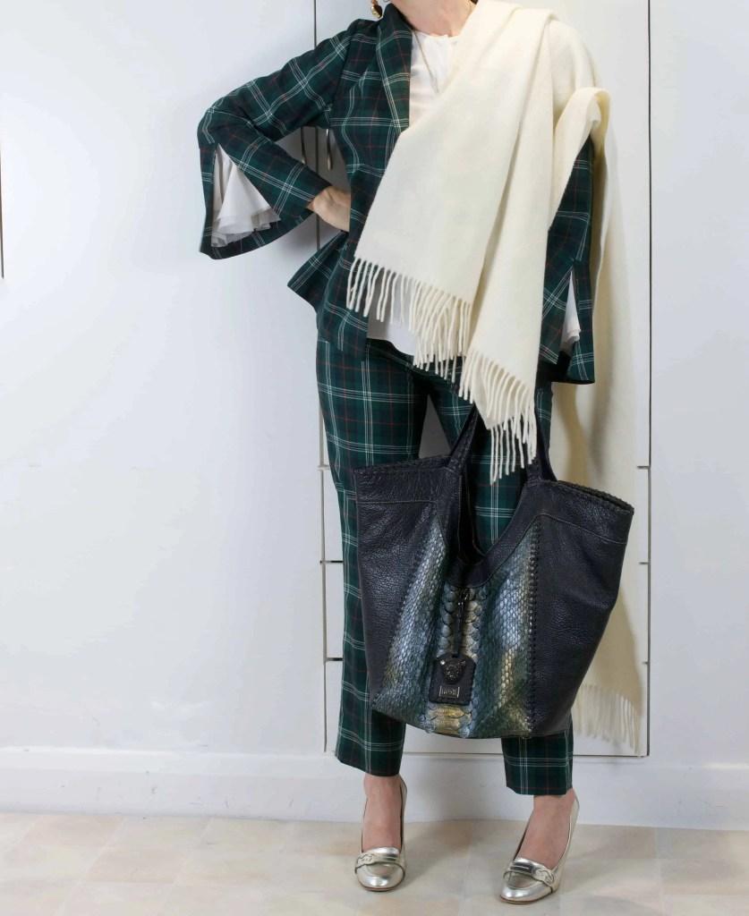 Green Checks sara bag scaled scaled
