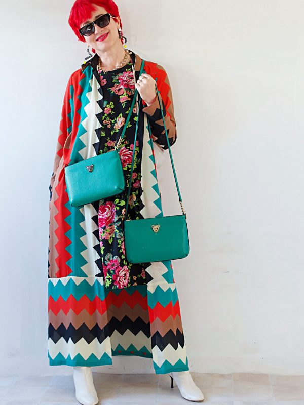 green cross body bag zig zag dress 6